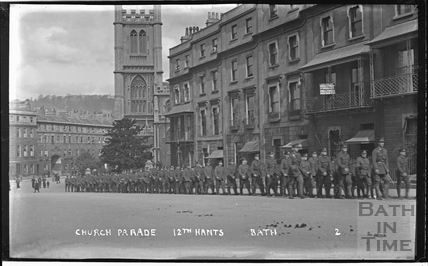 Troops at Raby Place, Bathwick Hill No. 2 c.1920s