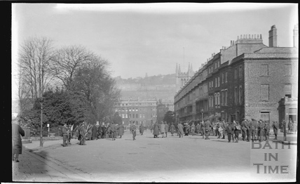 Troops at Raby Place, Bathwick Hill c.1920s