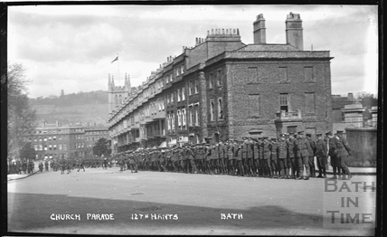 Troops at Raby Place, Bathwick Hill, No. 1 c.1920s