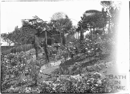 Garden, probably at 32 Sydney Buildings c.1920s