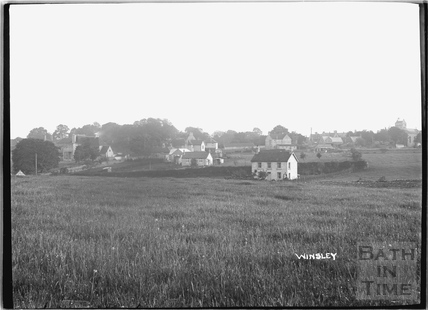 View of houses at Winsley c.1920s