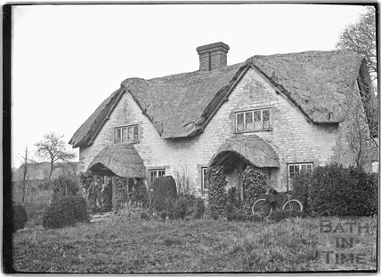 Thatched Cottage, thought to be Winsley c.1920s