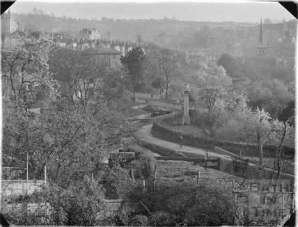 View of the Kennet and Avon Canal from Sydney Buildings, Bath c.1930