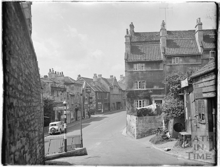 View down the Batch to Batheaston High Street c.1920s