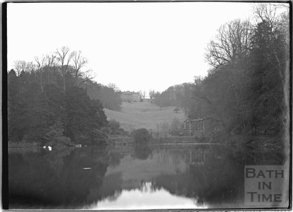 The Palladian Bridge, looking up to Prior Park c.1920s