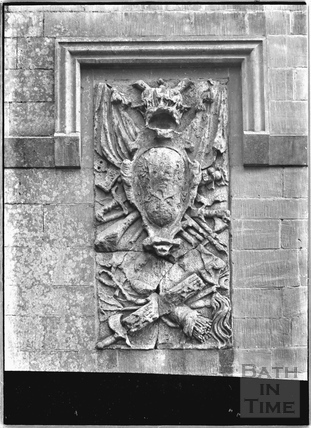Stone carving on the Lansdown Monument c.1936