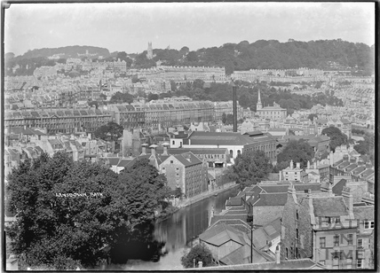 View of Walcot and the Paragon towards Lansdown. c.1934