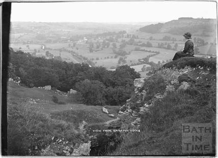 View from Hampton Rocks, Bathampton Down c.1920