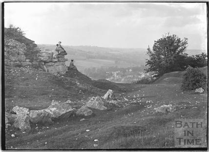 The eastern end of Seven Sisters Quarry, Hampton Rocks, Bathampton Down c.1920