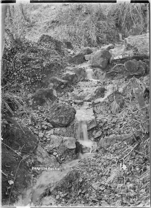 Waterfall at Hampton Rocks, Bathampton Down c.1920