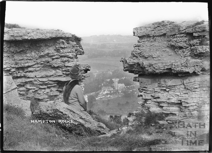 Hampton Rocks, Bathampton Down c.1920