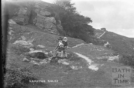 Hampton Rocks, Bathampton Down c.1916