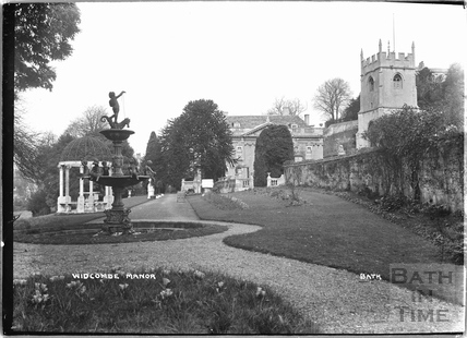 Widcombe Manor, gardens and fountain, 1921