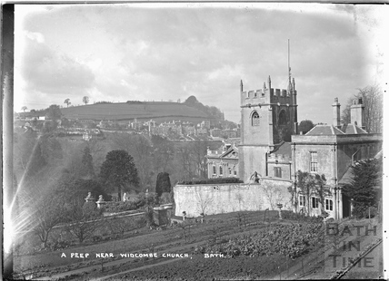 A peep near Widcombe Church of the Manor, 1921