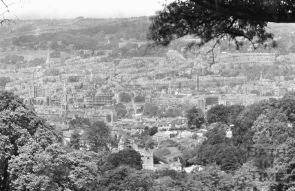 View of Bath from Monument Field c.1920 - detail