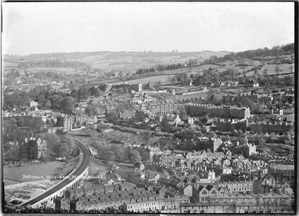 View of Bathwick from Beechen Cliff c.1920s
