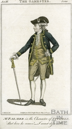 John Palmer Jr c.1742-1798, actor in the character of Stuckley 1777