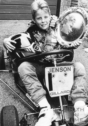 A young Jenson Button kart star aged 9, 5 Sep 1989