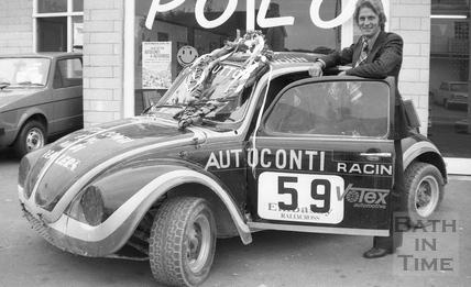 Jenson Button's father John Button and Fizzer, his autocross VW Beetle 15 Sept 1976
