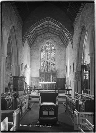 Marshfield Church interior, 21 Nov 1936