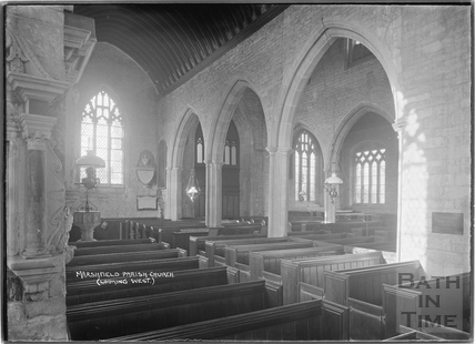 Marshfield Church looking west, 21 Nov 1936
