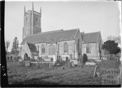 Marshfield Church exterior, 21 Nov 1936