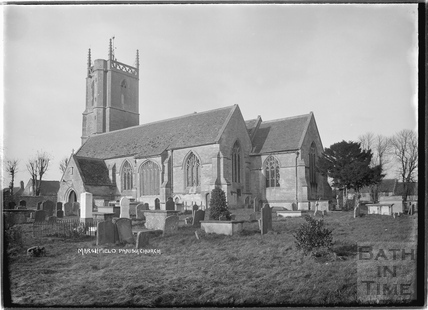 Marshfield Church exterior, 21 Nov 1936