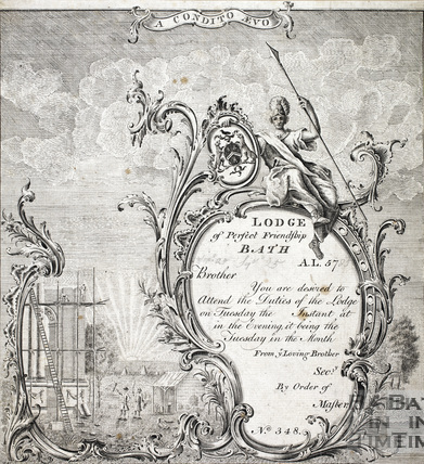 Lodge of Perfect Friendship Sept 25 AL5783 c.1779