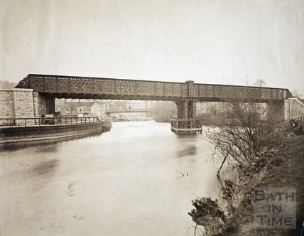 Midland Railway Bridge crossing the River Avon to Green park Station c.1870