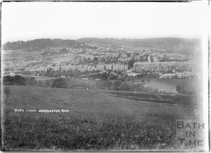 Grosvenor and Larkhall from the Warminster Road c.1920s