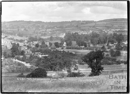 View from the Warminster Road June 1935