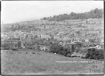 View of Snow Hill on approaching Bath via Warminster Road c.1935