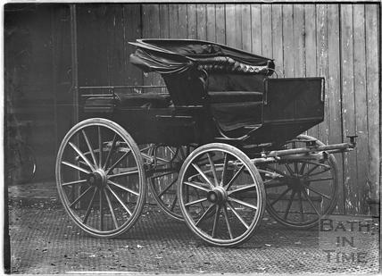 Horse drawn carriage, Shockerwick House c.1920s