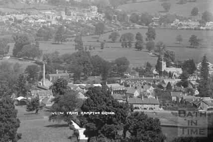View of Bathampton from Hampton Down c.1920 - detail