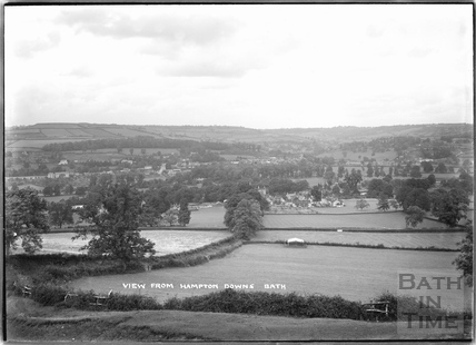 View from Hampton Down, Bathampton c.1920s