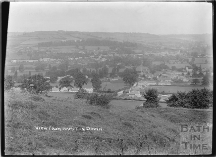 View of Bathampton from Hampton Down c.1920s