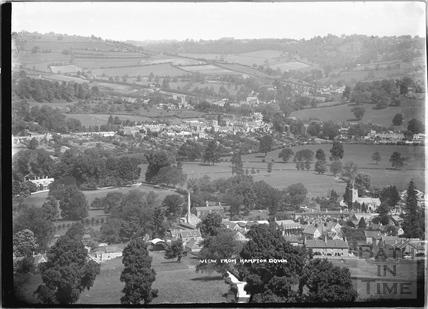View of Bathampton and Batheaston from Hampton Down c.1920s