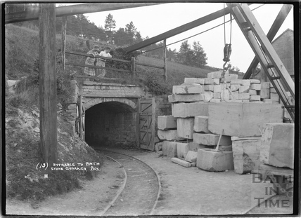 Entrance to Bath Stone Quarries, Box, No.13, 1932