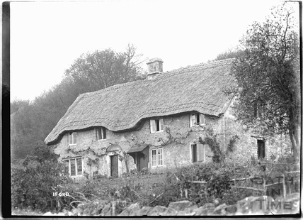 Thatched Cottage at Iford c.1920s
