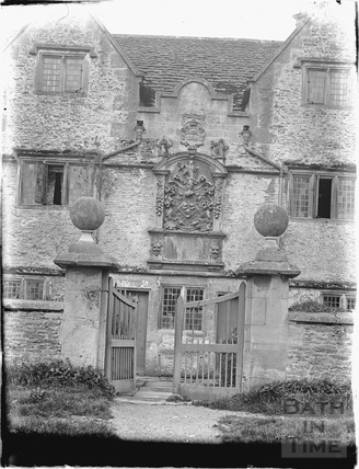 Doorway to the Hungerford's Almshouses, Corsham c.1920s