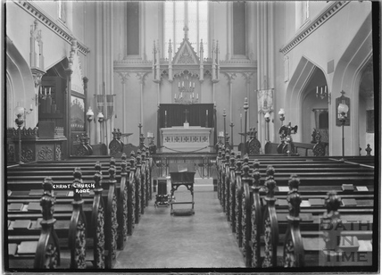 Christ Church, Rode, interior c.1935
