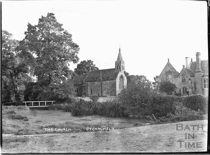 View of Great Chalfield Manor and church Sept 1922