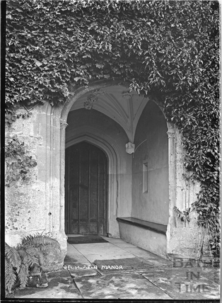 Great Chalfield Manor entrance doorway c.1922