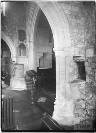 St. Lawrence Church, Rode, interior c.1935