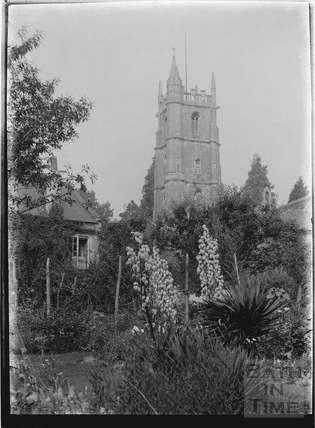 St John the Baptist Church tower, Batheaston c.1920s