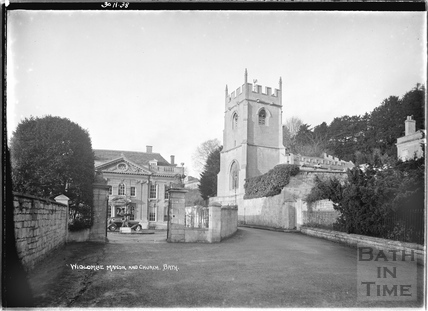 Widcombe Manor and Church 30 Nov 1938