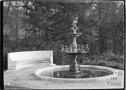 The fountain at Widcombe Manor, 1929