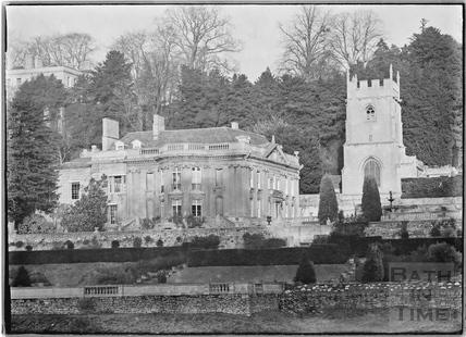 Widcombe Manor, gardens and church c.1920s