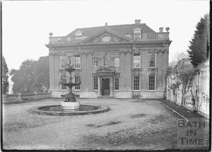 Widcombe Manor, front elevation with fountain c.1920s