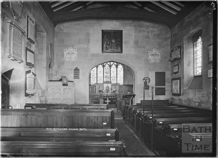 Old Widcombe Church, interior c.1930s